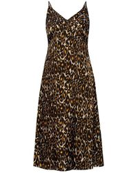 R13 - Leopard-printed dress - Lyst