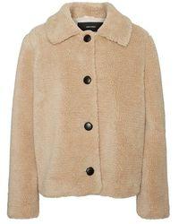 Vero Moda Jacke Teddy - Naturel