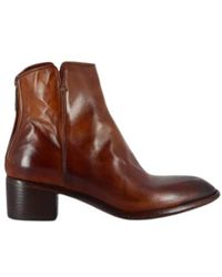 LEMARGO Ap11a Block Heel Ankle Boots - Bruin