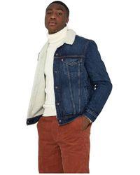 Levi's Sherpa Trucker Denim Jacket - Blauw
