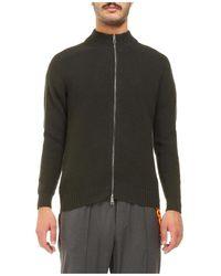 Tagliatore Sweater Jacket With Zip Water Repellent - Groen
