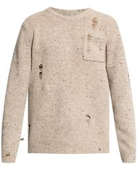 Helmut Lang Sweater With Holes - Naturel