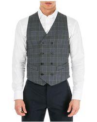 Emporio Armani Men's Sweater Waistcoat Vest - Grijs