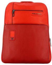 Piquadro Akron 14.0 Expandable Laptop Backpack - Rood