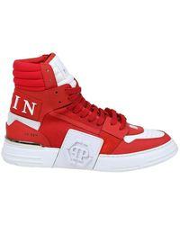 Philipp Plein Sneaker phantom kick $ hi-top - Rojo