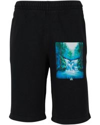 Off-White c/o Virgil Abloh Waterfall Shorts - Zwart