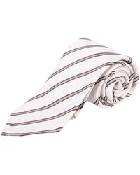 Lardini Striped tie - Blanc