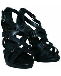Dior Sandalias de tiras usadas Negro