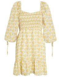 Faithfull The Brand Romina Mini Dress - Geel