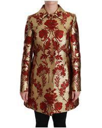 Dolce & Gabbana Cape Jas Jacket - Geel