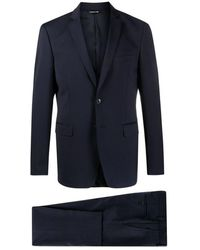 Tonello Blue Single-breasted Wool Suit - Blauw