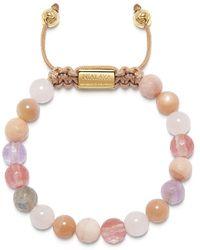 Nialaya Women's Beaded Bracelet With Cherry Quartz, Rose Quartz, Amethyst Lavender And Pink Aventurine - Roze