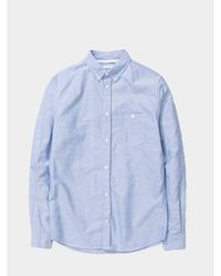 Norse Projects Anton Oxford Shirt - Blu