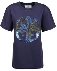 Alberta Ferretti - T-shirt Love Me - Lyst