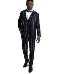 Gabriele Pasini Three-piece Striped Suit - Blauw