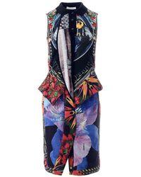 Givenchy Vintage Sleeveless Peplum Dress - Zwart