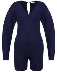 Helmut Lang Wool jumpsuit - Blau
