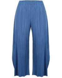 Issey Miyake Pantaloni - Blauw