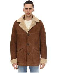 Belstaff Merino shearling car coat - Marron