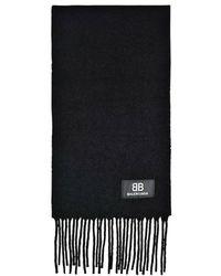 Balenciaga Scarf Boucled Wool - Zwart