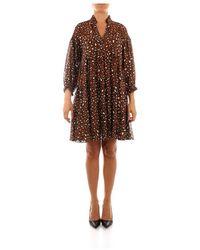 iBlues Brava Short Dress - Bruin