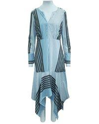 BCBGMAXAZRIA Stripes Dress Azul