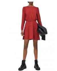 Pepe Jeans Renata Fluid Dress - Rood