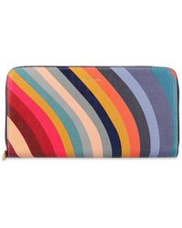 Paul Smith Wallet With Logo - Blauw
