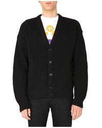 Gcds Oversize Fit Cardigan - Zwart