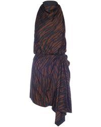 The Attico - Mini Zebra Print Dress - Lyst