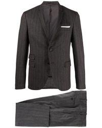 Neil Barrett Slim Pinstriped Suit - Grijs
