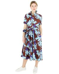 P.A.R.O.S.H. Long Dress - Blauw