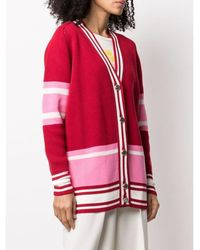 Golden Goose Deluxe Brand Dixie College Cardigan Jacquard - Rood