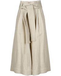 P.A.R.O.S.H. Crop Trousers - Naturel
