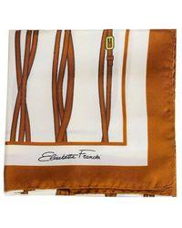 Elisabetta Franchi Printed Foulard Scarf - Bruin