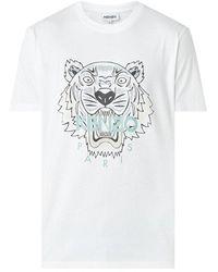 KENZO Fa65ts0204ya 01 T-shirt - Wit