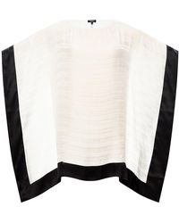 Balmain Silk dress with logo - Blanc