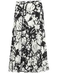 Essentiel Antwerp Vink long wine skirt - Negro
