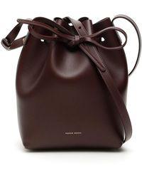 Mansur Gavriel Mini Bucket Bag - Bruin