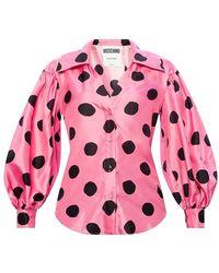 Moschino Zijden Hemd - Roze