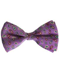 Etro Patterned Bow Tie - Paars