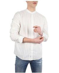 Closed Collarless Shirt - Neutro