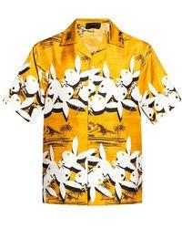 Amiri Patterned Shirt - Geel
