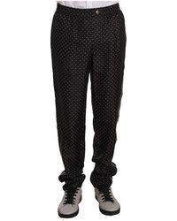 Dolce & Gabbana Dotted Lounge Sleepwear Pants - Zwart