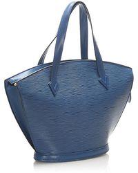 Louis Vuitton Epi Saint Jacques PM Short Strap Leather Azul