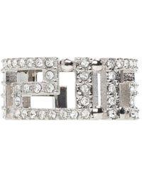 Versace Embellished Ring - Grijs