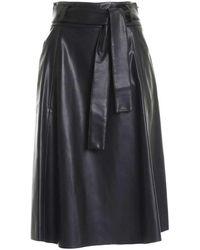 Paolo Fiorillo Capri Belt Skirt In Black - Zwart