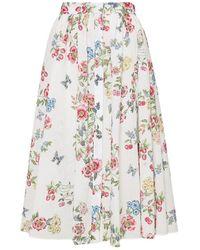 Vivetta Skirt Flowers - Wit