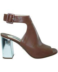 Prada Block Heels - Marrone