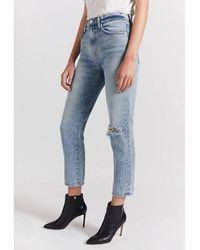Current/Elliott The Vintage Cropped Slim Jeans Azul
